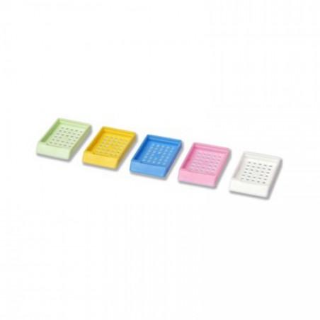 Casetes para biopsias con tapa. caja 250. azul